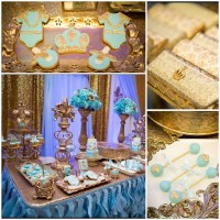 Gold and Blue Royal Baby Shower - Baby Shower Ideas ...
