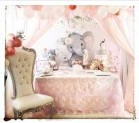 Pink And Gray Elephant Baby Shower - Baby Shower Ideas ...