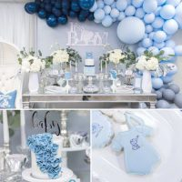 Blue And Silver Elephant Baby Shower - Baby Shower Ideas ...
