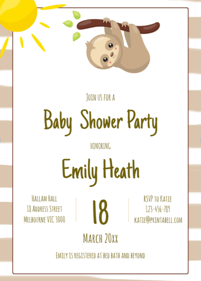 Baby Shower Invitations Twins Free Printable