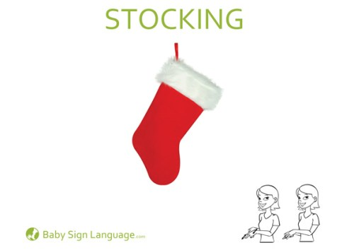 stocking Christmas Baby Sign Language