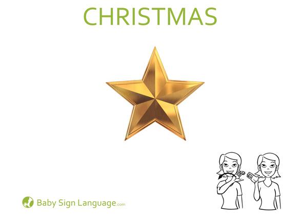 Christmas Baby Sign Language Flash Card