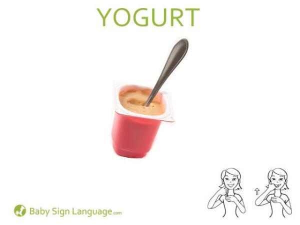 Yogurt Baby Sign Language Flash card