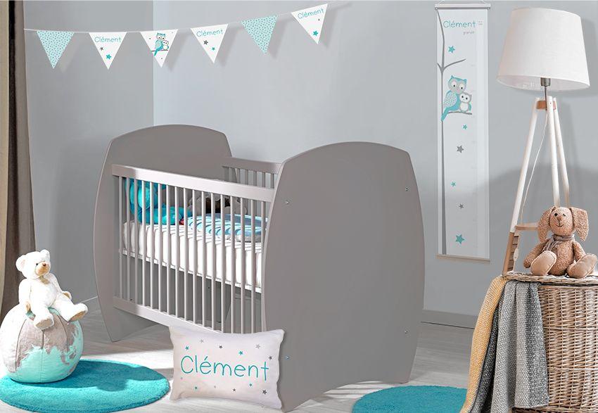 chambre bebe tendance personnalisable hibou et etoiles