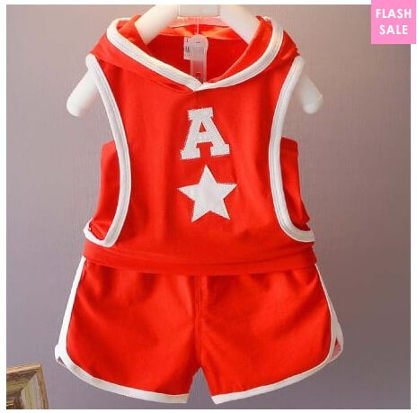 Letter Pattern Sleeveless Hooded Sports Set