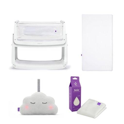 SnuzPod4 Bedside Crib Starter Bundle White