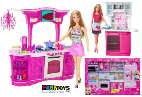 barbie kitchen playset outdoor frame kit set price in pakistan baby toys online buy