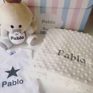 Pack Babyyo · Manta Topitos White + Body