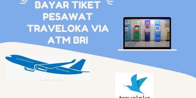 cara bayar tiket pesawat via atm BRI