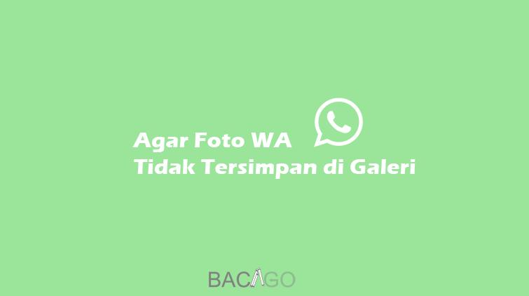 cara agar foto whatsapp tidak tersimpan di galeri