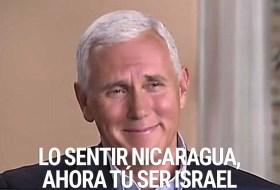 Por este medio se la informa a Nicaragua que ahora son Israel