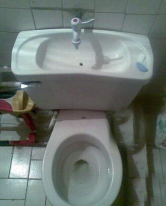 Inodoro con lavamanos integrado  Bacanalnicacom