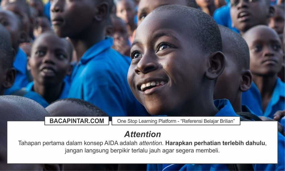 Konsep AIDA, Attention