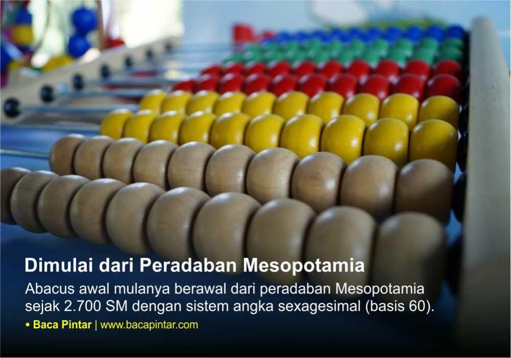 Abacus diperkenalkan sejak peradaban Mesopotamia
