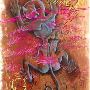 Bacco Artolini Dipinto Berlino 6 Intervento digitale