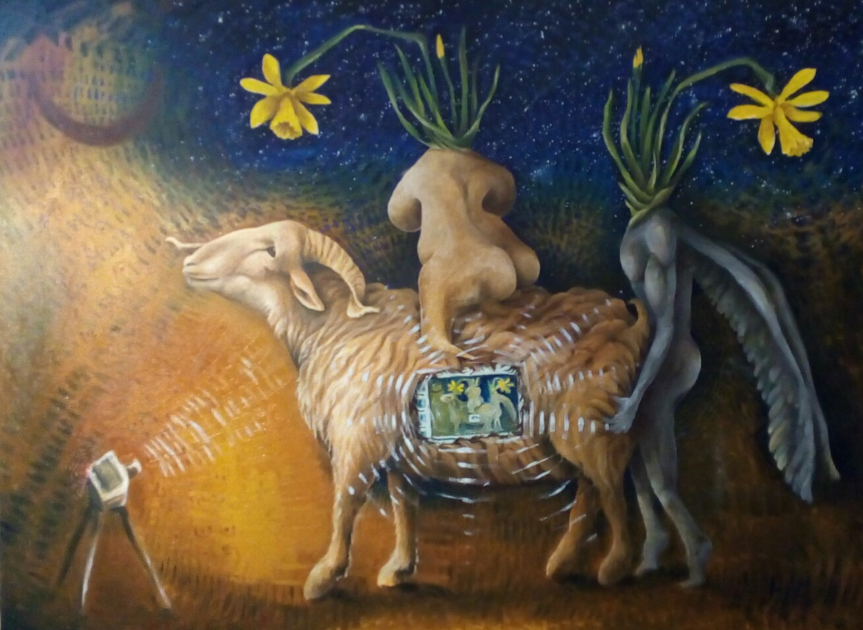 Bacco Artolini Arte dipinto olio Ravenna 2018