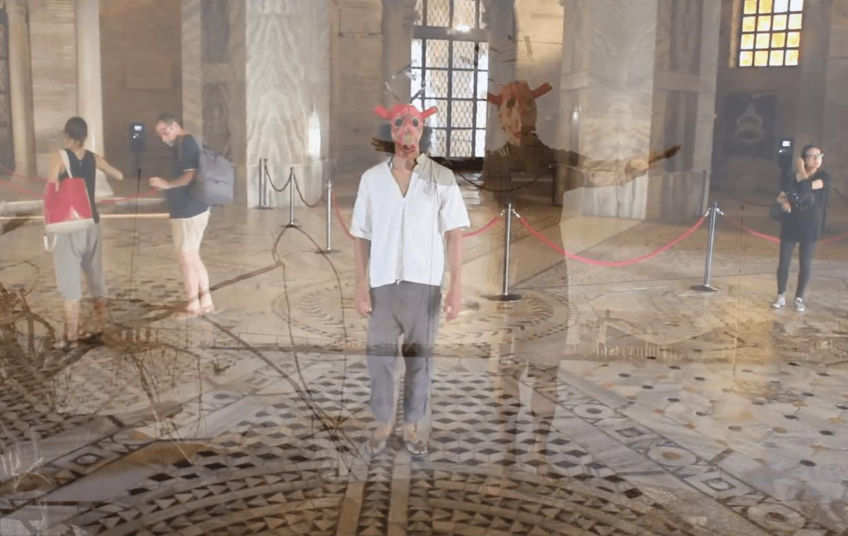 Bacco Artolini Legambiente Onico Ravenna mosaici performance