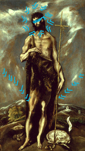 El greco san giovanni battista (1600-1605) Bacco Artolini