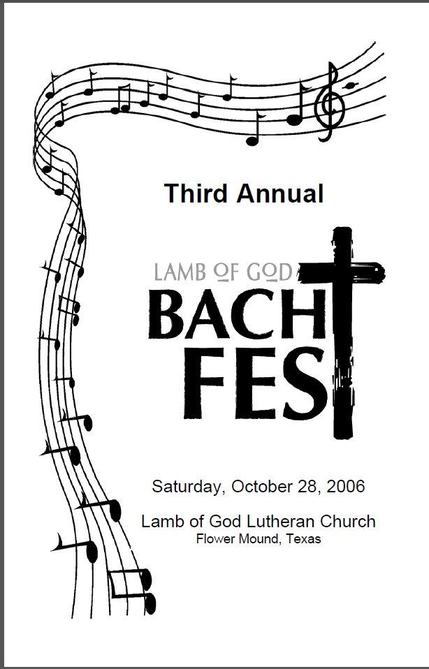 Bach Festivals & Cantata Series: Lamb of God BachFest