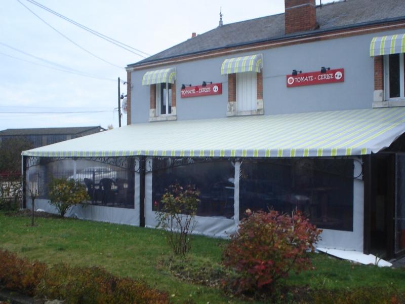 Toile PVC pour terrasse  Bache Bourgoin