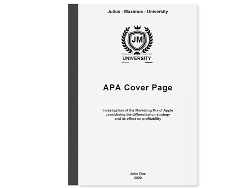The Perfect APA Cover Page