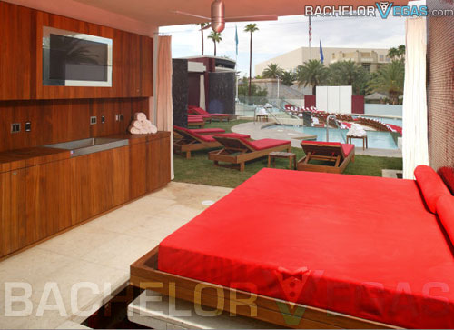 Moorea Beach Club Pool Party  Cabana Rental  Bachelor Vegas