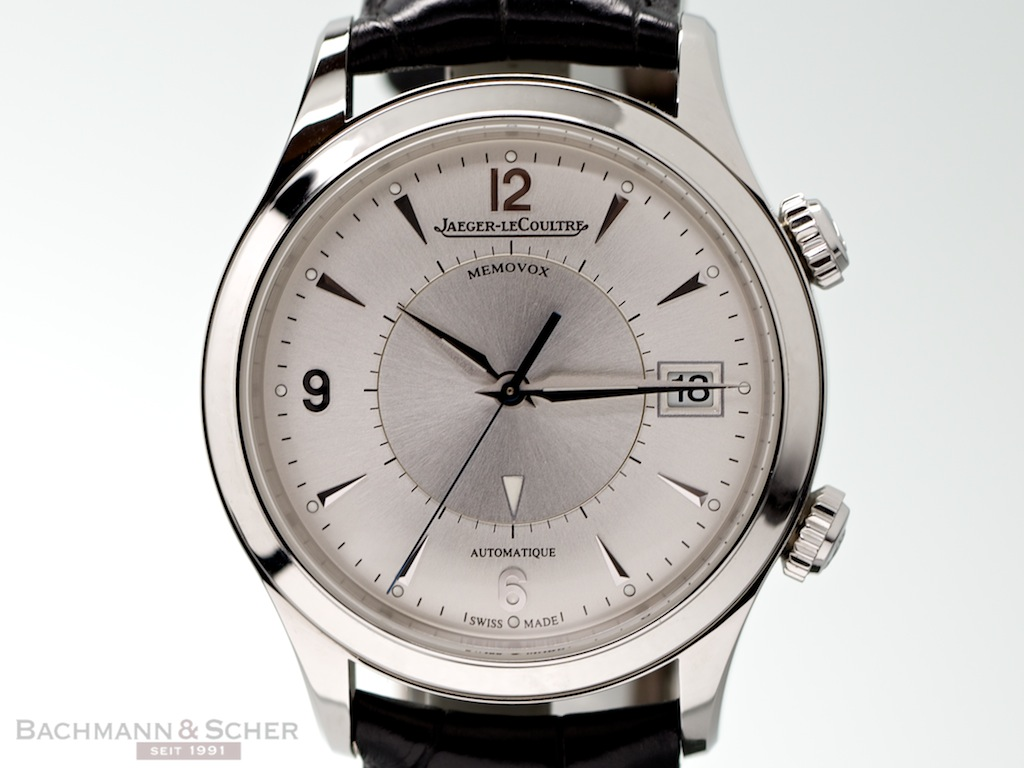 Jaeger LeCoultre Master Memovox Ref1418430 Stainless Steel Papers Bj2011