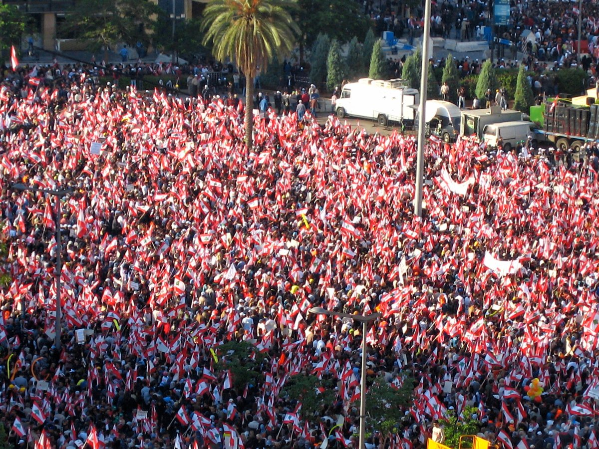 Massive protest swamps Beirut