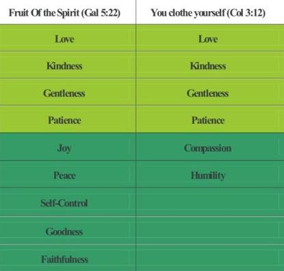 Clothe yourself with the fruit of the Holy Spirit!