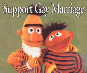 Bert and Ernie for Gay Marriage