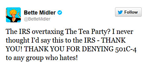 Bette Midler Takes On The Tea Party