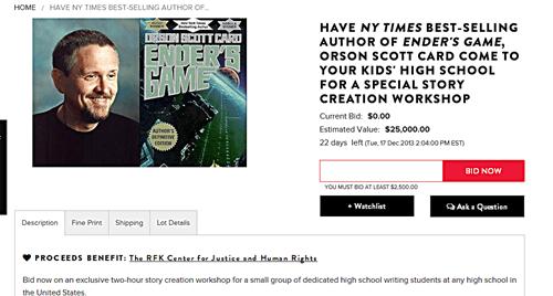 Enders Shame Auction