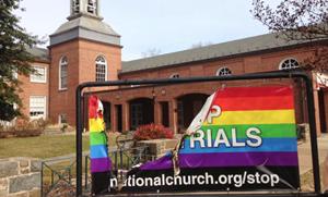 St Lukes Mthodist Rainbow Banner