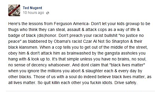 Ted Nugent racist
