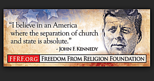 JFK seperation of church