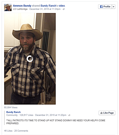 Ammon Bundy Facebook