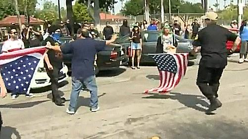 Ku Klux Klan rally in Anaheim