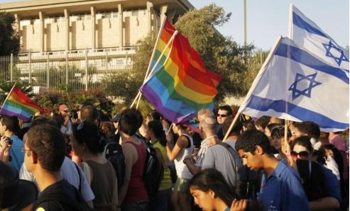 LGBT activist protest in Jeruselum
