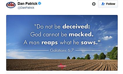 Dan Patrick Gay Shooting Tweet