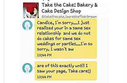 Bigot bakery refuses to make gay birthday Cake
