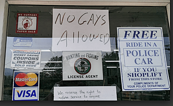 After SCOTUS Ruling Tennessee Hardware Store Puts Up 'No Gays Allowed' Sign