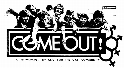 "READ: The First 4 Issues of the Gay Liberation Front's Magazine ""Come Out"" - 1969/1970"