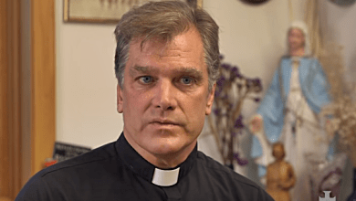 "Chicago Priest Who Burned Rainbow Banner Says ""Homosexualists"" Have Driven Him Into Hiding"