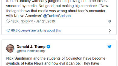 Donald Trump: Covington Catholic Students Are Symbols Of Fake News!