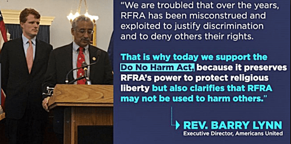 "Democrats Re-Introduce The ""Do No Harm Act"" to Amend ""The Religious Freedom Restoration Act"""