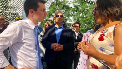 ACLU Trans Activist Ambushes Pete Buttigieg Over BLACK TRANS LIVES MATTER at NYC AIDS Memorial