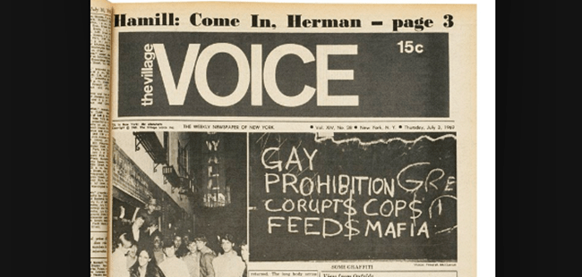 Gay History - September 12, 1969: Gay Liberation Front Protests The Village Voice Over Homophobic Advertising Policy