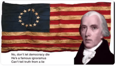 """WATCH: """"The Day Democracy Died"""" Sung by The Founding Fathers: Watch, share, sing-along... but most importantly, vote BLUE."""