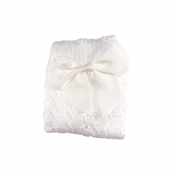 babysokje wit met strik