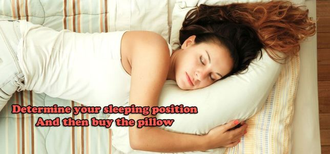 sleeping position and pillow